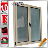 heavy duty Luxury tempered safety glass design of aluminum windows