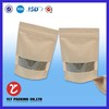 Food packing stand up pouch with zipper/kraft stand up pouch/foil standup pouch