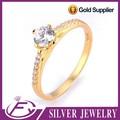 Tailandia aaa cz plata de piedra 925 plata de ley 24k joyería de oro