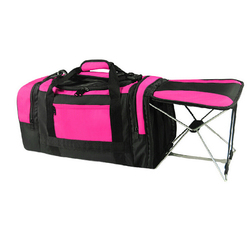 Outdoor gym hold all duffel trolley travel bag with chair seat, fold hiking trekking mountaineer picnic fish duffle travel bag