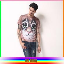 Full printing dye sublimation 3d shirt animal 3d t-shirt wholesales