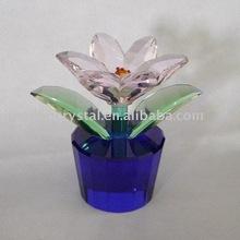 Presente pequeno cristal artesanato flor com aparência bonita na china
