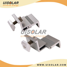 flexible solar power system component for roof and ground mounting ,Adjustable End Clamp