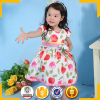Red apple girls casual frock designs fashion design small girls dress