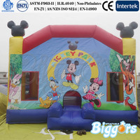 Famous Cartoon Inflatable Bouncy Castle Mickey Mouse for Children