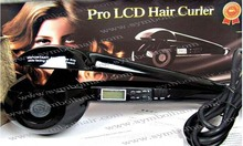 2014 Fashion black Pro LCD display automatic hair curler