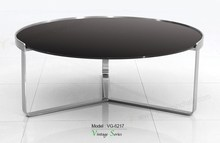 Triumph Modern Tempered Glass Top Coffee Table W Stainless Steel coffee table Legs / tables indoor