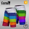Hot sell yong men high elasticity short pant custom colored polyester swimming pants