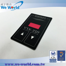 Perfect tactile control push button membrane switch with 3m adhesive