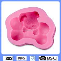 DIY cake baking silicone fondant mold dog shape silicone handmade soap mold cake decorating tools CD-F404