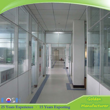 Hot sale factory direct powder coating aluminium office/factory/LAB french sliding open casement vacuum safety glass doors