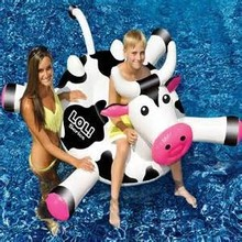 Cow custom Inflatable Floating Island/inflatable pool animals