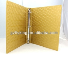 High End Customize color PU Cover 6 Ring Binder Planner
