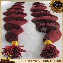 I tip shape pre bond 100% virgin indian remy hair extensions