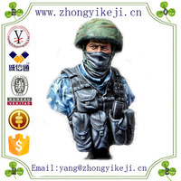 factory custom-made handmade carved fashion polyresin model soldiers