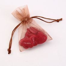 Organza Bag 9x12cm Rose Printed Wedding Jewelry Packaging Pouches, Black Nice Gift Bags For Free Shipping