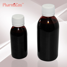 30ml/100ml Plastic amber bottle for Syrup with white tamperproof cap