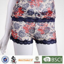 Classic Design prited flower young women underpants and boyshort