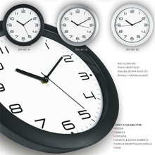 Classic style designer recommendation black and white wall clock