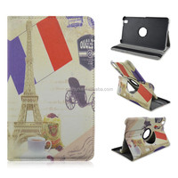 La Tour Eiffel Rotary Flip Stand Tablet Case For Samsung Galaxy Tab Pro T320, 8.4 Inch PU Leather Cover