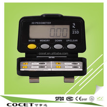 DIgital Sensor High Tech 3D Pedometer High Accuracy with Only One Button