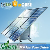 1.5KW Mobile Solar Cube Residential Solar Power Kit