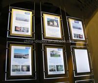 advertising led double sided glass poster frame led picture frame light