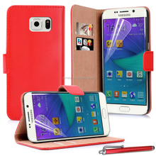 Instock Real Genuine Leather Wallet Flip Case For Samsung Galaxy note 5 5.7inch S6 edge plus S6 edge+ 5.7inch Phone Case