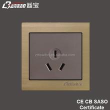new model LK5009 champagne 3 flat pin Australia socket