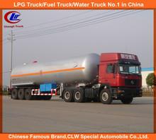 ISO Propane 58.5CBM 3 Axle propylene LPG gas tank semi trailer 56cbm 3 Axle LPG truck with trailer