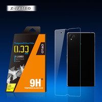 9H anti glare anti shock tempered glass screen protector film for sony xperia z1 l39h