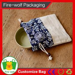 Standard Size Cotton Canvas Drawstring Bag 8Oz 10Oz 6Oz Canvas Drawstring Bag