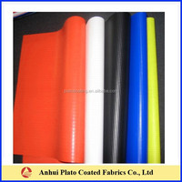 Waterproof Vinyl Coated Truck Cover Fabric made by 100%vinyl coated polyester