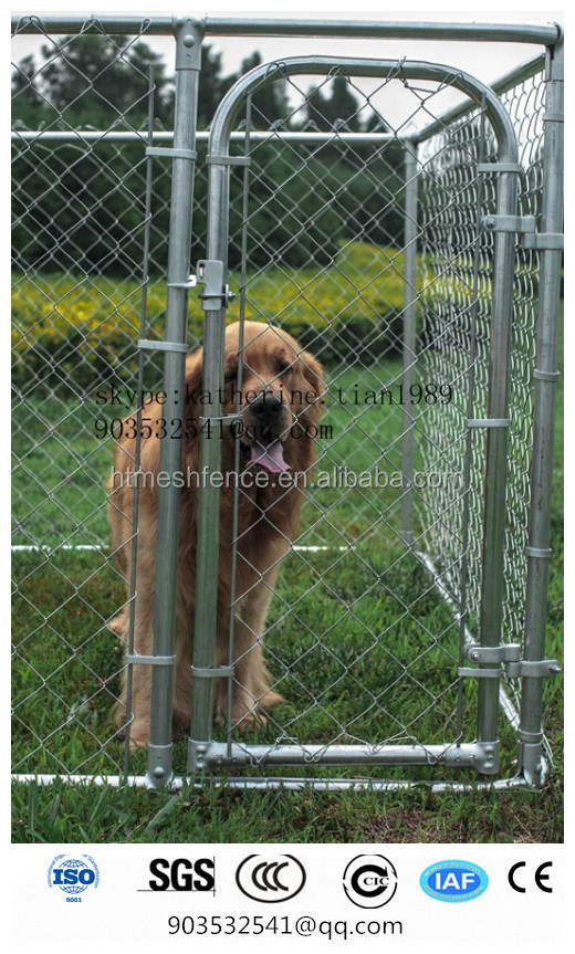 7 1/2' x 7 1/2' x 6' BOX KENNEL CHAIN LINK DOG PET SYSTEM