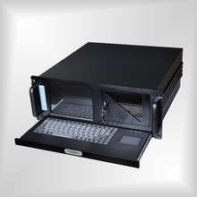 19'' 4U 88 keyboard touchscreen standard rack-mount workstation chassis with 8.4''LCD screen