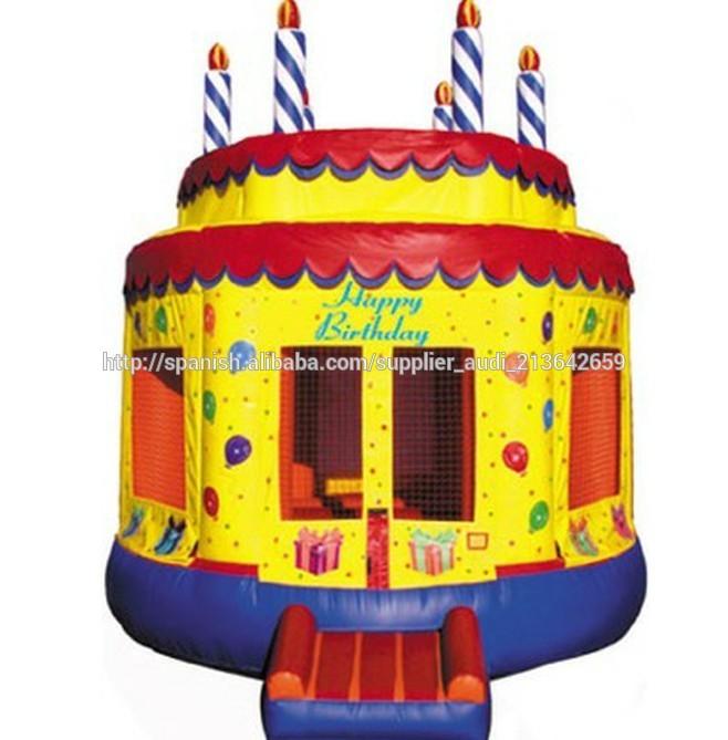 Gorila inflable de pastel de cumpleaños / Jumper