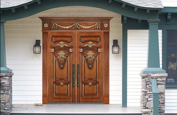 Iglesia de lujo tallado doble puertas de madera puertas de for Descripcion de puertas de madera