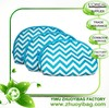 Cheap Beautiful Blue Chevron 3 Piece Travel Cosmetic Bag Set in Simple Design