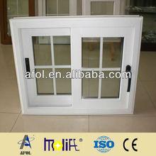 AFOL double glass sliding window,double pane aluminum window