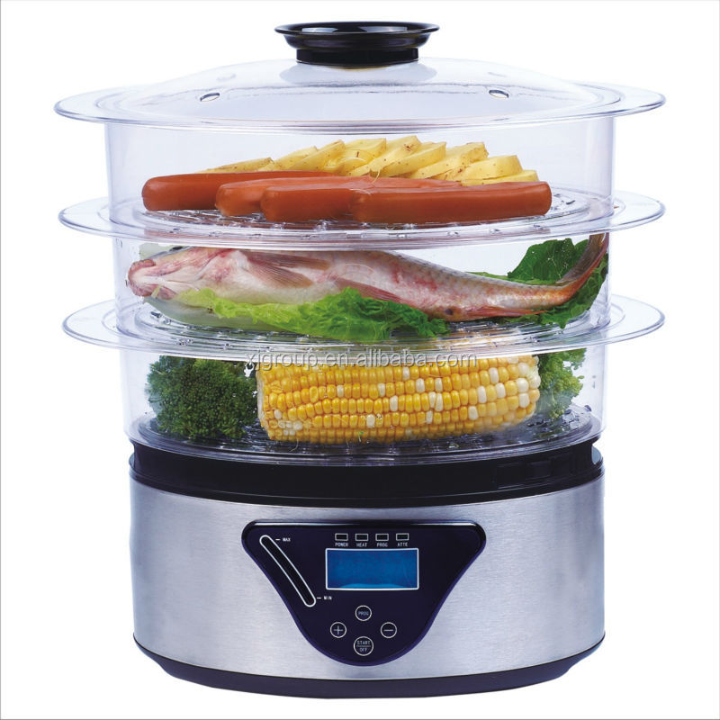 Stainless Steel Electric Vegetable Steamer ~ Layer l stainless steel electric food steamer xj k