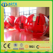 Plastic inflatable toy type large water roller ball price factory