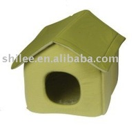 Foldable dog house/dog bed with pet mat