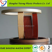 pvc wooden edge band furniture strips, edge banding home furniture trim supply from China Factory