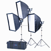 Best quality! ompact photo studio flash light kit for photographic 500w 3200k 13500lm
