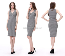 Women Clothes Sleeveless Elegant OL Evening Dress