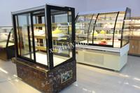 1.8m 4 shelves upright square glass cake showcase with CE/torta display freezer