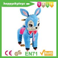 Happy Island CE ride on furry animal,ride on inflatable animal,large rocking horses