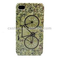 Bicycle Retro Design Hard Skin Case Cover for Apple iPhone 4/4S