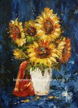 Palette Knife Flower Oil Painting Artist