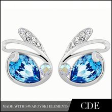 Hot Products 2014 Crystal Fancy Earrings Imported From China E0021